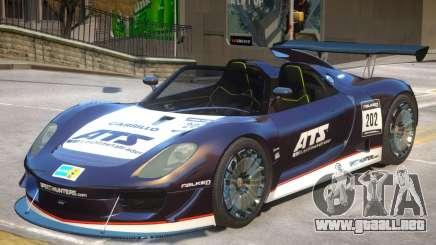 Porsche 918 Roadster PJ1 para GTA 4