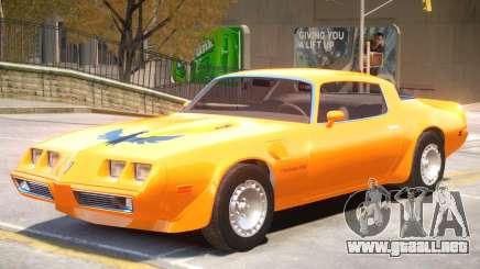 Pontiac TransAm Turbo para GTA 4