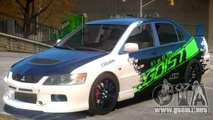 Mitsubishi Lancer Evolution IX V1.1 PJ para GTA 4