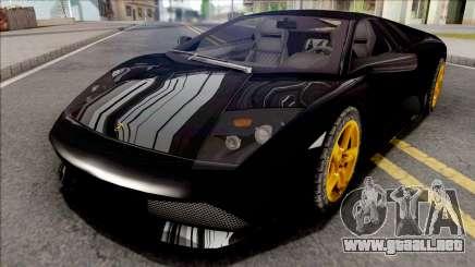Lamborghini Murcielago LP640 Black para GTA San Andreas