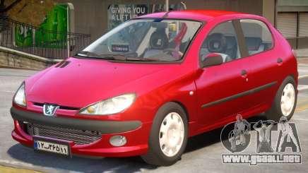 Peugeot 206 V2 para GTA 4