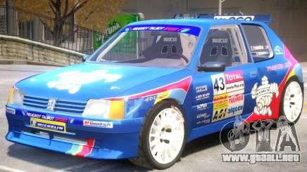Peugeot 205 V1 PJ para GTA 4