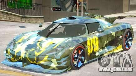 Koenigsegg One PJ1 para GTA 4