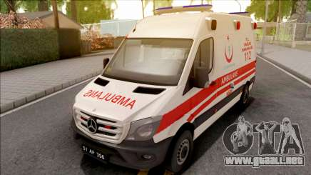 Mercedes-Benz Sprinter 2017 Turkish Ambulance para GTA San Andreas
