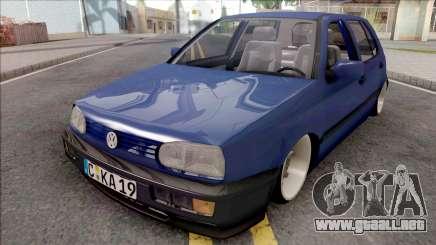 Volkswagen Golf 3 Blue para GTA San Andreas