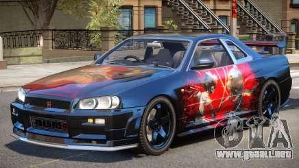 Nissan Skyline R34 V1.1 PJ para GTA 4