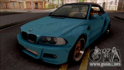 BMW M3 E46 Cabrio Widebody para GTA San Andreas