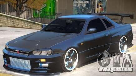 Nissan Skyline GT-R V-Spec para GTA 4