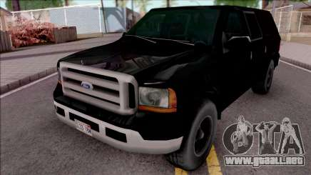 Ford Excursion SWAT Low Poly para GTA San Andreas