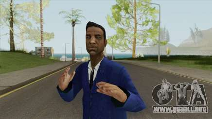 Black Male Young (Blue Suit With Tie) para GTA San Andreas