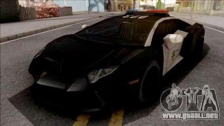 Lamborghini Aventador LAPD para GTA San Andreas