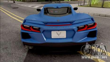 Chevrolet Corvette C8 2020 para GTA San Andreas