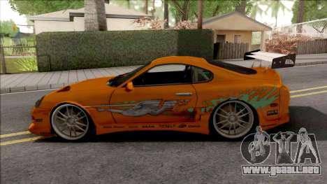 Toyota Supra Fast & Furious with O.Z Wheel para GTA San Andreas