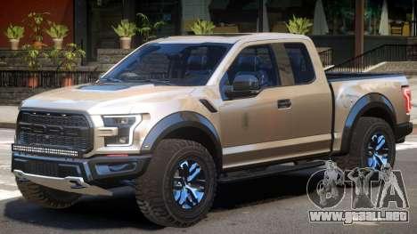 Ford F150 Raptor V2 para GTA 4