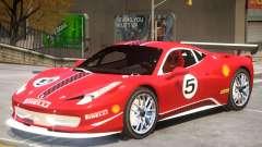 Ferrari 458 Challenge PJ1 para GTA 4