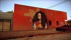 El Graffiti de una morena para GTA San Andreas