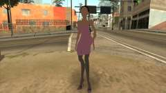 Scary woman in pink dress para GTA San Andreas