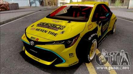 Toyota Corolla 2019 Fredric Aasbo para GTA San Andreas