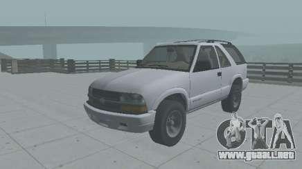 Chevrolet Blazer 2001 para GTA San Andreas