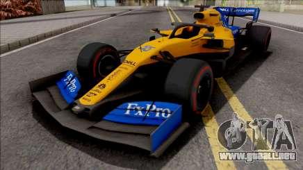 McLaren MCL34 F1 2019 para GTA San Andreas