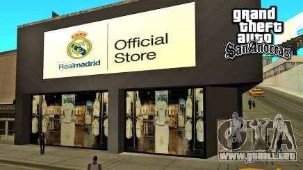 El Real Madrid Tienda para GTA San Andreas