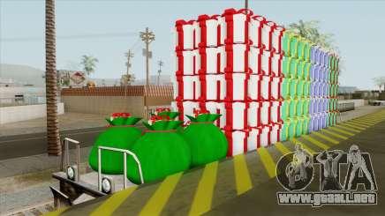 Christmas Railway Wagon para GTA San Andreas