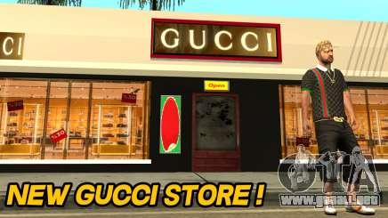 Nueva Tienda De Gucci para GTA San Andreas