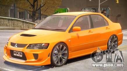 Mitsubishi Lancer Evolution VIII Sport para GTA 4