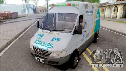 Mercedes-Benz Sprinter Ambulancia Uocra para GTA San Andreas