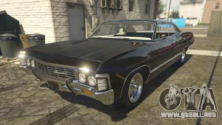 Chevrolet Impala 1967 Supernatural para GTA 5