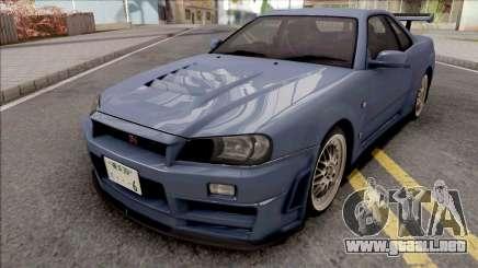 Nissan Skyline GT-R R34 2000 Omori Factory S1 v2 para GTA San Andreas