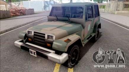 Mesa Jeep Vesao Exercito Brasileiro para GTA San Andreas