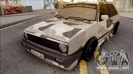 Volkswagen Golf 2 Camo para GTA San Andreas