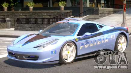 Ferrari 458 Police para GTA 4