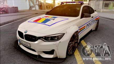 BMW M4 2018 Widebody Politia Romana para GTA San Andreas