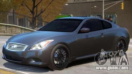 Infiniti G37 Coupe V1 para GTA 4