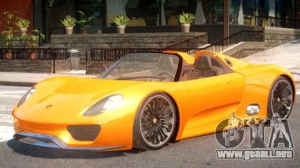 Porsche 918 Roadster para GTA 4