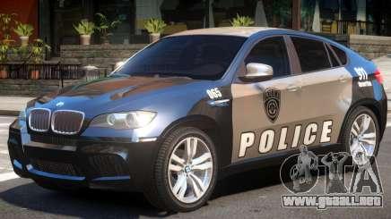 BMW X6 Police para GTA 4