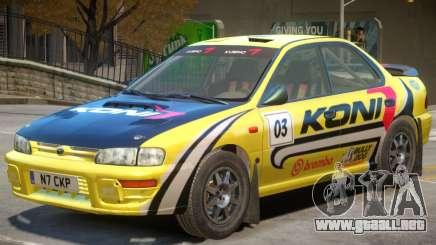 Subaru Impreza Rally Edition V1 PJ1 para GTA 4