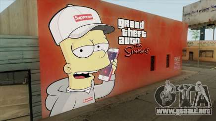 Bart Simpson Mural (GTA The Simpsons) para GTA San Andreas