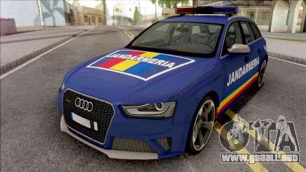 Audi RS4 Jandarmeria Romana para GTA San Andreas