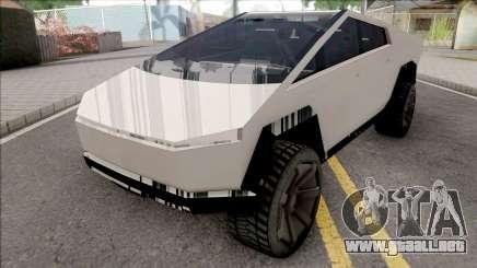 Tesla Cybertruck 2019 para GTA San Andreas