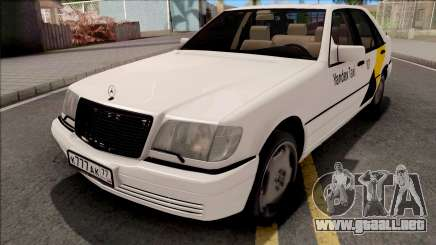 Mercedes-Benz S600L W140 Yandex Taxi White para GTA San Andreas
