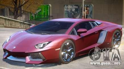 Lambo Aventador V1.1 para GTA 4