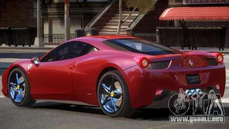 Ferrari 458 Italia V1.0 para GTA 4