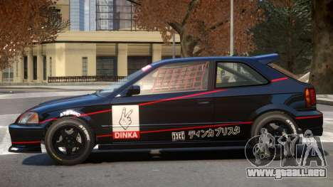 Dinka Blista Compact V1 PJ1 para GTA 4