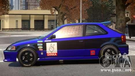 Dinka Blista Compact V1 PJ3 para GTA 4