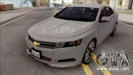 Chevrolet Impala 2018 Grey para GTA San Andreas