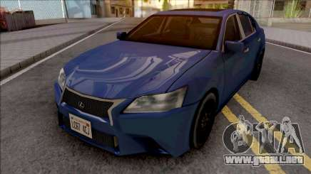 Lexus GS350 F Sport 2012 SA Style para GTA San Andreas