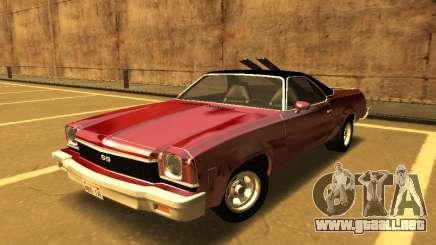 1973 Chevrolet El Camino SS 350 para GTA San Andreas